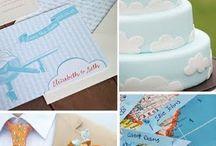 Wedding airplane theme