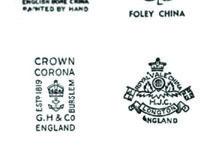 Vintage ceramic back stamp