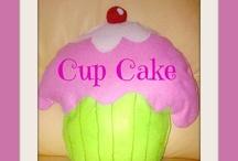 cup cake pillow / homemade cupcake pillow cuscini a forma di cupcake fatti a mano