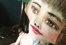 Flora and Sadie Art Dolls