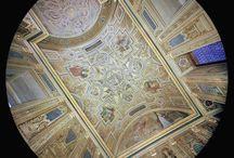 fotografie zenitali di Palazzo Vecchio / una galleria di immagini zenitali, realizzate dall'architetto Franco Zampetti, nelle sale del Museo di Palazzo Vecchio
