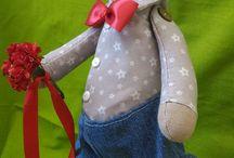 Текстильные игрушки / Игрушки и тильды