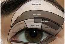 Make-up brown eyes