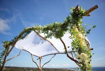 wedding ceremony and backdrops
