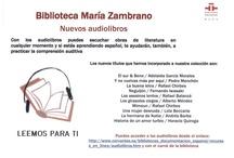 Audiolibros / Aquí encontraras un catálogo de audiolibros / by Biblioteca EST1