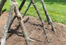 틀밭 만들기 기둥세우기