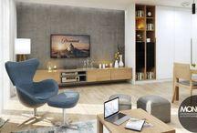 Jasne i przytulne mieszkanie w nowoczesnym stylu / W naszym najnowszym projekcie stawiamy na jasność i przytulność. Drewniane elementy występują w niemal każdym pomieszczeniu nadając im ciepłego charakteru. Oryginalności dodają zastosowane dodatki i meble w kolorach głównie niebieskim i czarnym.  PO więcej inspiracji zapraszamy na naszą stronę: http://monostudio.pl/ oraz na Facebooka