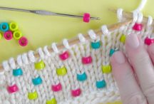 Knit with beads in