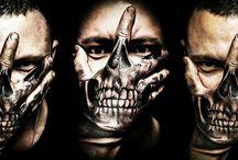 my tattoos / #tattoo #tattoos #tattoed #tatuaggio #art #art #arte #skin #skulltattoo #skull #handmade #hand #handtattoo #blackandwhite #tattooart #tattoostyle #tattoo #tattoolife #handskull
