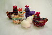 Easter egg cosies