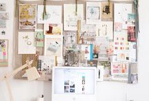 Inspirational work spaces // / I wish my studio looked like this