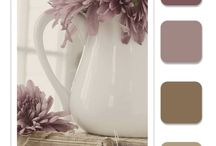 Home Decor / lilac, champagne, lavender, chandelier, white wicker, lace, antique plum