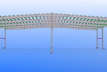 Transportes SAM Algeciras - FASE 2. / Nave de 4.000 m2 de Estructura Metálica formada por pórticos armados atornillados de 60 metros de anchura y separación entre pórticos de 12 metros. Plazo de fabricación: 3 semanas.