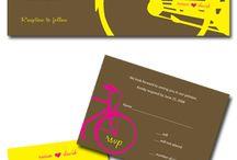 Theme Wedding: bycicle/ Svatební téma: bycikl
