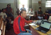 Taller Protegido / Compañeros del Taller Protegido Trabajando en Radio Radiola.