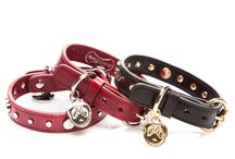 Pet Accessories by Tara Sauvage / You can order these at www.roccosauvage.com #roccosauvage Leather dog collars and leashes.
