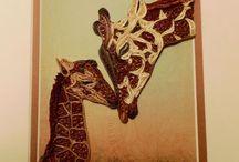 quilled giraffe