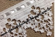 barrados em crochet