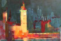 живопись / картины, пейзажи города, Fine Art, экспрессионизм, абстракция