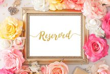 Wedding signs Printable