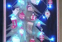 Quilted fabric advent calendars