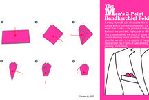 How to Fold a Handkerchief Guide. / View our complete guide in folding your handkerchief in 11 different stylish ways suited for every occasion.