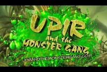 Upir and the Monster Gang / Upir and the Monster Gang is an illustrated novel with 60 plus full page, full colored illustrations written by Sharron Thornton and illustrated by Raymond Thornton. Upir, a young vampire and his monster friends went to monster camp to sharpen their skills. But found: a mad scientist, flying skulls, monster eating plants and a secret plot to destroy the monster race. The book is not published yet, but we will let you know when we have a date.