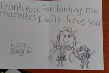 Thank You Notes / Writing (or drawing) a thank you note is a wonderful way to show your thoughtfulness. Children practice writing notes during class at Mimi's Manners.