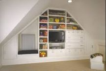 Loft Ideas - Bay Windows (both sides) and Shelving