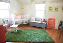 Nursery / Coral and Yellow baby girl nursery