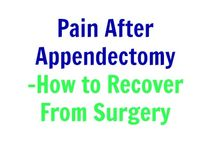 Appendectomy Recovery