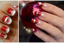 Christmas Nails / manicuras con diseño y colores para celebrar la navidad