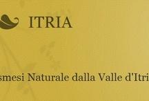 ITRIA – una filosofia di vita / Dalla Valle d'Itria un vero toccasana di autentica naturalezza. ITRIA offre un programma completo e semplice di vinoterapia per prevenire e combattere l'invecchiamento cutaneo prematuro. Rigenerativa come la forza salutare dell'uva di Locorotondo in Val d'Itria. Nutriente come la terra rossa dove si coltivano vitigni e uliveti. Energetica come il sole che riempie il paesaggio pugliese.