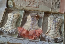 Dress assemblage / Paper, lace and everything pretty