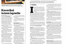 Communikén asiakkaita mediassa / Tähän kansioon on kerätty juttuja, joiden aikaan saamisessa Communikélla on ollut sormensa pelissä.    Here are some examples of articles about Communiké's clients. I've started to collect the articles here in August 2013.