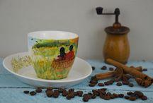 Ręcznie malowane  handmade painted / Handmade painted, ręcznie malowane, porcelana, ceramika, filiżanki ręcznie malowane, kubki ręcznie malowane, handmade painted cup, mug, ceramic, porcelain www.ehope.pl