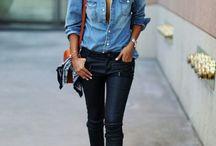 Fashion & Street style ( Denim jaket, Vest)