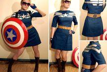 Kostym Captain america