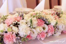 Ślub kwiaty na stół