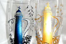 dekorering på glass