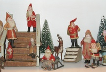 Santa Claus / The Vintage Touch Santa Claus Board with Decorating ideas as well as items for sale.
