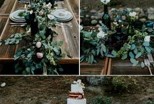Moody Dark Color Palettes for weddings