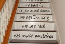 Staircase decals