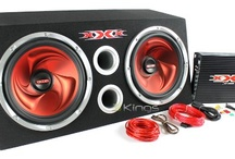 "XXX Car Audio Pair 12"" Subs/Car Amp Kit/Sub Box"