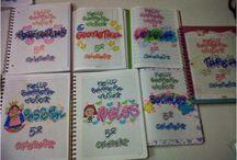 mi letra timoteo / Cuadernos decorados con la temática de la letra timoteo, tanto para niñas como niños
