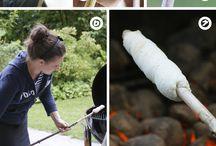 Naturausflug / Ein Ausflug in die Natur - das heißt Knüppelkuchen-Rezepte und Lagerfeuer-Ideen.