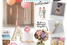 Playful city wedding / Mix light-up letters with pastel hues, glitter and quirky touches for a fun take on an urban celebration