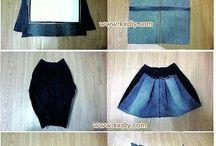 costura con yeans