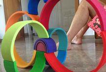 Rainbow stacking