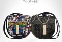 Versace #GREEK Line / Discover #GREEK - explore the new luxurious line dedicated to the futuristic emoji version of the iconic #Versace greca key. Find more on versace.com / by Versace